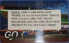 Gas cards front