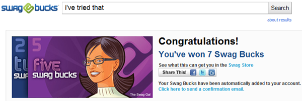 Swagbucks Reward