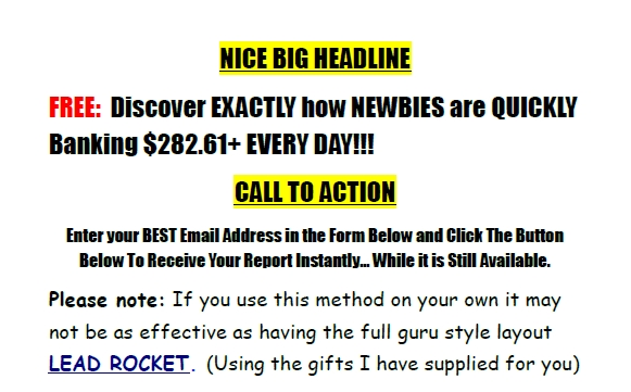 Super Affiliate Jackpot 2 Example Squeeze Page