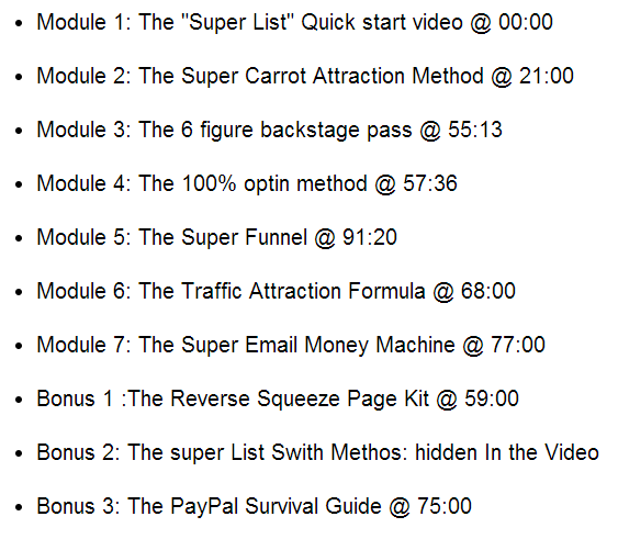 The Super List Method Modules