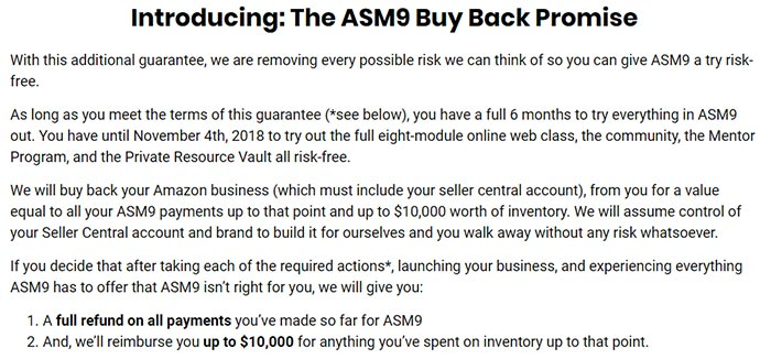 ASM9 Buy Back Promise