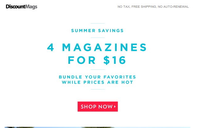 discountmags Landing Page