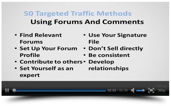 Instant Traffic Mastery Video Example