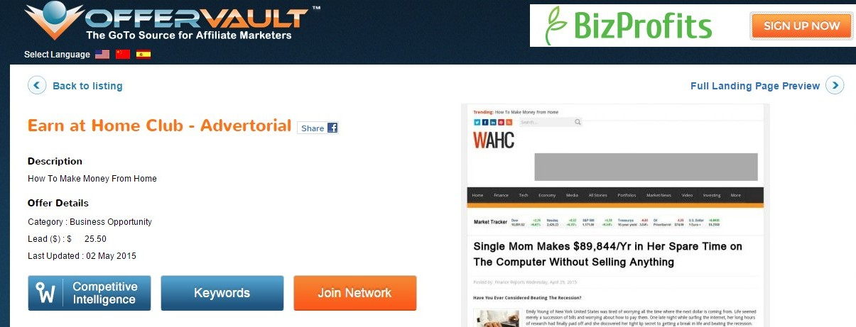Earn at Home Club Affiliates