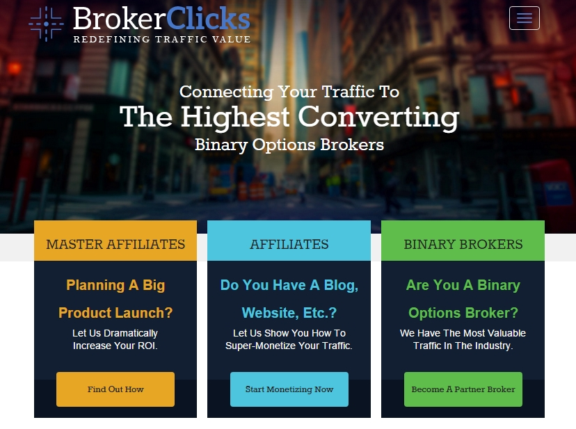 Binary options affiliate network