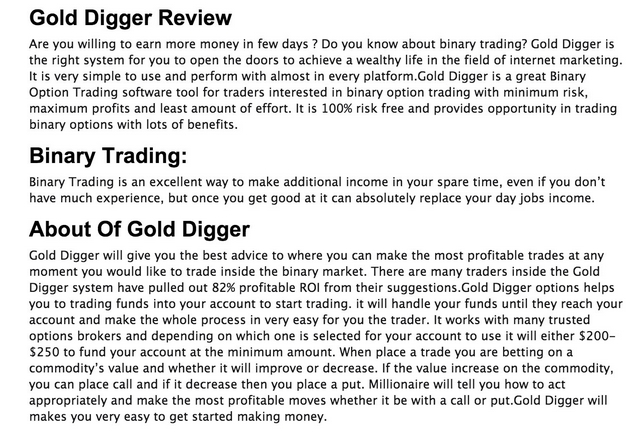 gold digger review