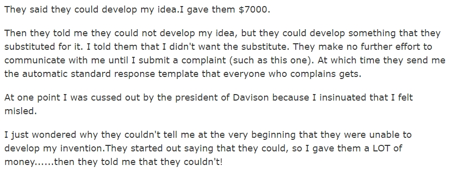 should you trust davison inventions with your big idea ivetriedthat