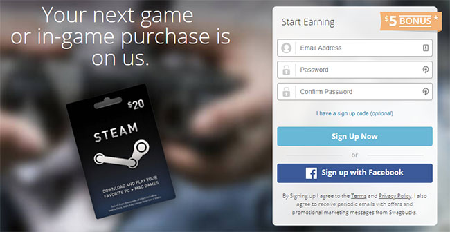 Make money playing games at Swagbucks