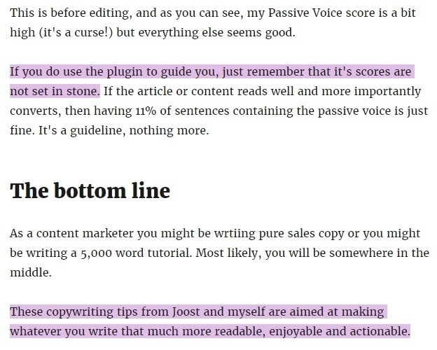 Examples of the Passive Voice