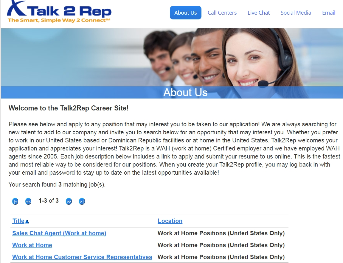 Talk2Rep Jobs