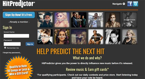 HitPredictor Website