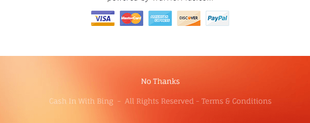 Cash with Bing no thanks