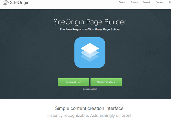 Siteorigin page builder
