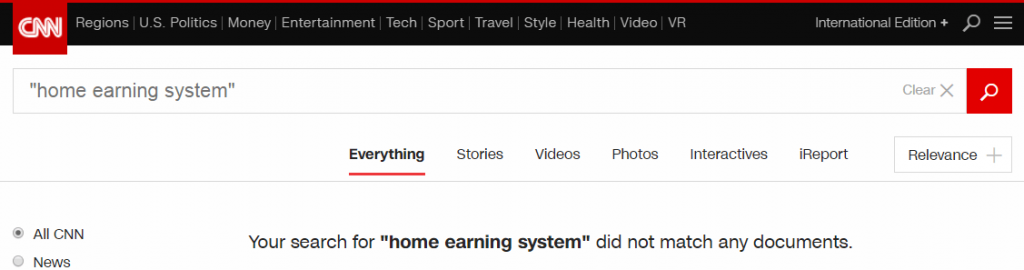 Home Earning System cnn