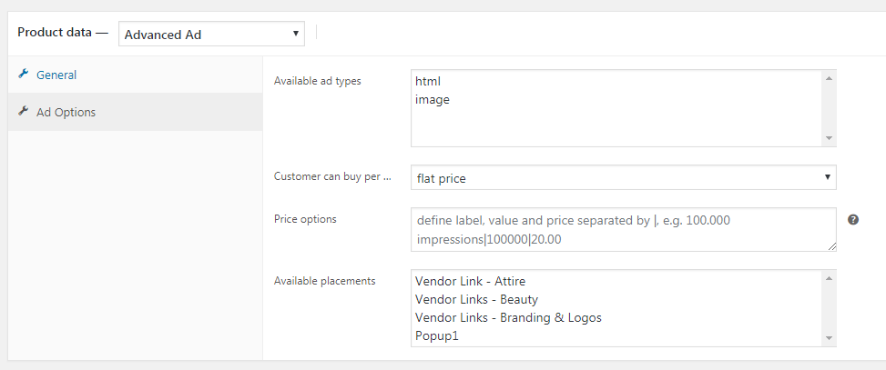 Advanced Ads woocommerce