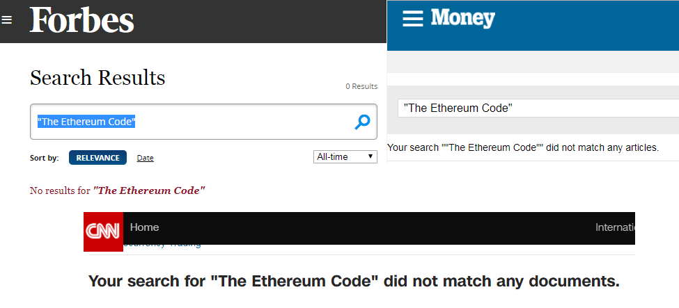 The Ethereum Code as seen on