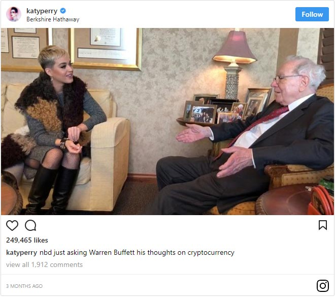 Warren Buffet & Katy Perry Talk Crypto