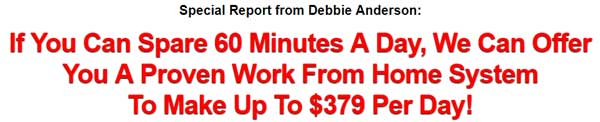 Typical work at home scam