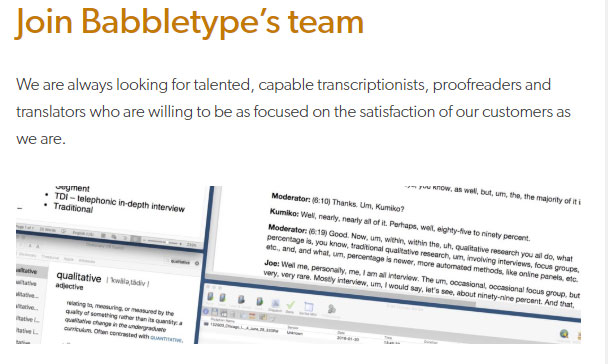 Join Babbletype