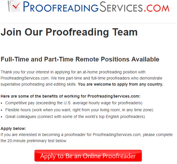 Proofreading Services Application