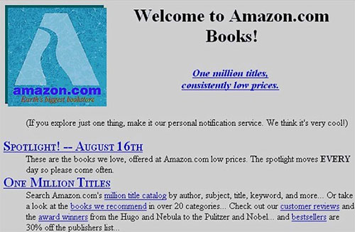 Amazons Original Website