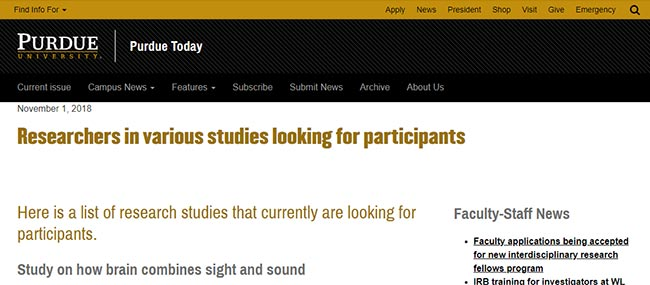 Purdue research studies