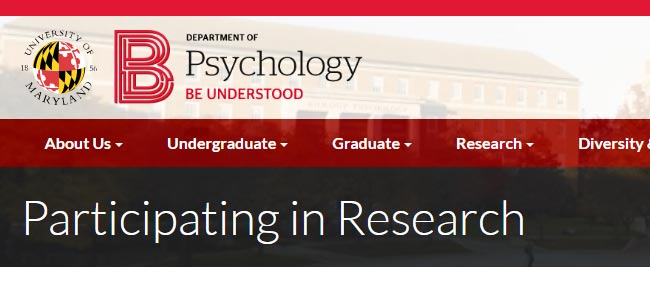 UMD Psychology Research Studies