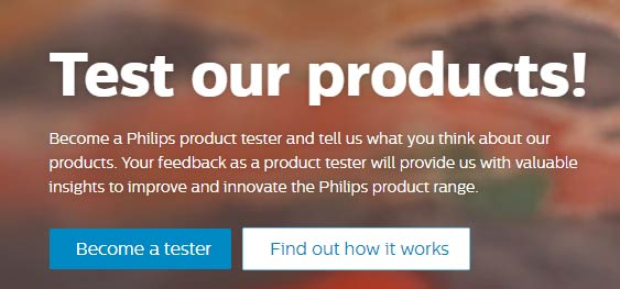 Philips product testers