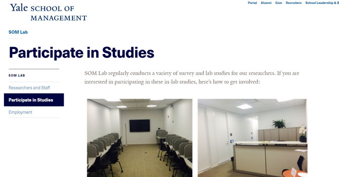 Yale Paid Online Research Studies