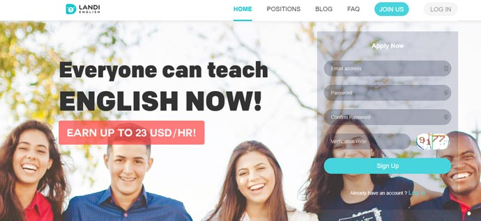 Online English Teaching Jobs with Landi