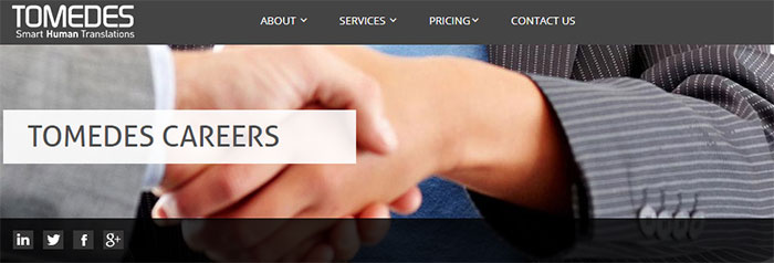 Tomedes careers page