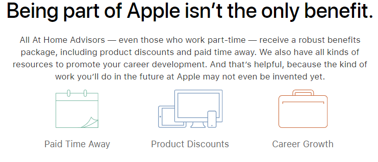 Apple Job Benefits