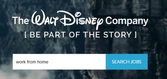 Disney work from home job search
