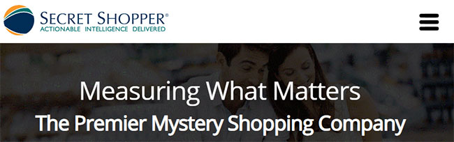 SecretShopper.com Home page