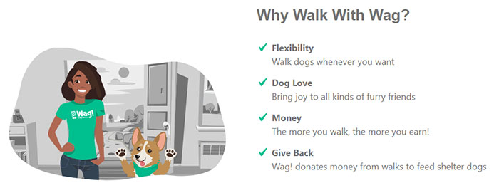 Benefits of working for Wag