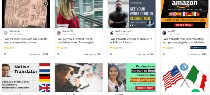 Fiverr Translators